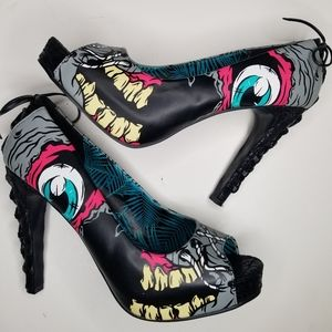 NEW Iron Fist Torrid Zombie Stomper Heels sz 8